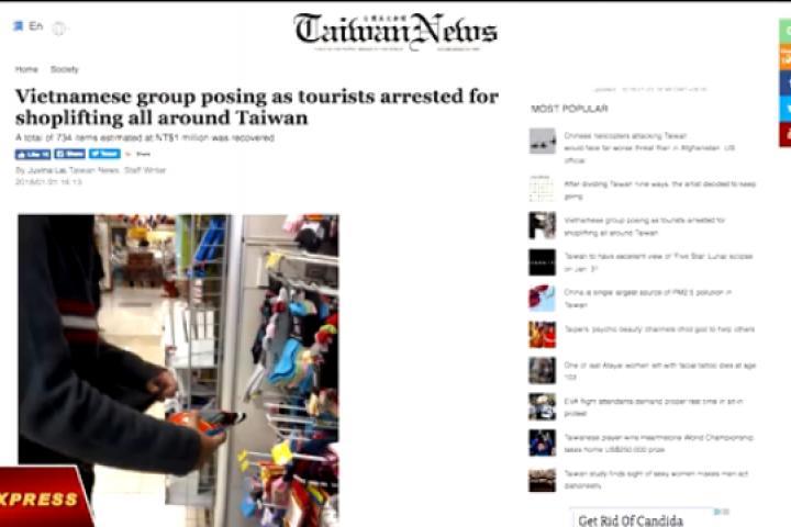 Đài Loan bắt một đường dây trộm cắp người Việt