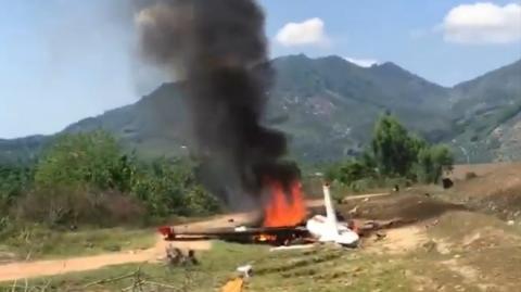 Khánh Hòa: máy bay YAK-52 rơi, 2 phi công thiệt mạng