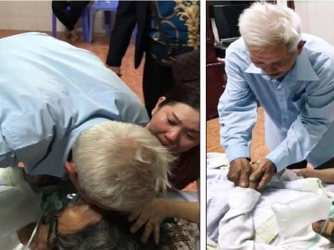 """Cụ ông nén nước mắt hôn từ biệt vợ: """"Kiếp sau gặp lại nhau hen"""""""