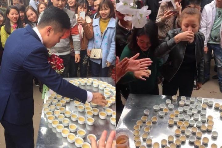 Đám cưới Lạng Sơn: Nhà trai phải uống hết 100 chén rượu mới được rước dâu